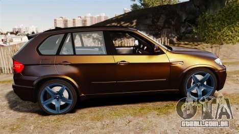 BMW X5M v2.0 para GTA 4 esquerda vista