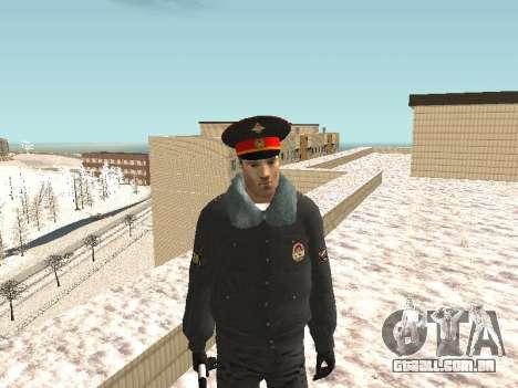 Pak policiais no inverno uniformes para GTA San Andreas oitavo tela