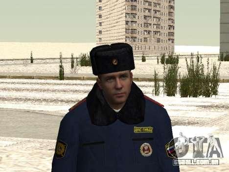Pak policiais no inverno uniformes para GTA San Andreas