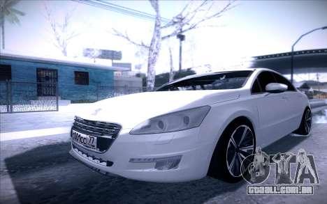 Peugeot 508 2011 v2 para GTA San Andreas