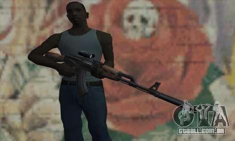 AK-47 Silencer para GTA San Andreas terceira tela