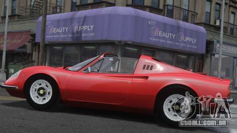 Ferrari Dino 246 GTS para GTA 4 esquerda vista