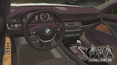BMW 530d Touring Lancashire Police [ELS] para GTA 4 vista interior