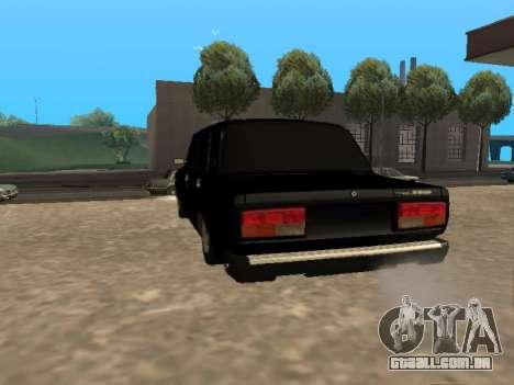 Vaz-2107 v. 1.2 Final para GTA San Andreas traseira esquerda vista