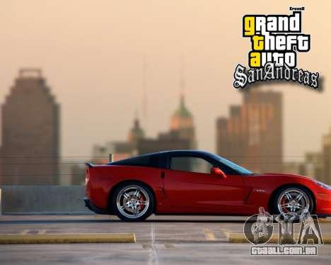 Novas telas de inicialização para GTA San Andreas sexta tela