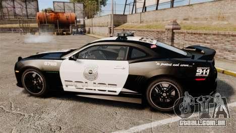 Chevrolet Camaro Police [ELS-EPM] para GTA 4 esquerda vista