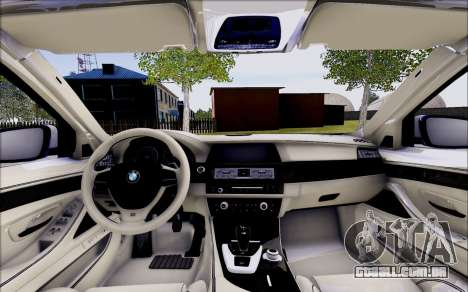 BMW 550 F10 xDrive para GTA San Andreas vista interior