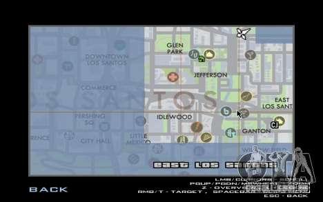 HQ Radar by Rockstar para GTA San Andreas por diante tela