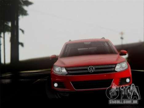 Volkswagen Tiguan 2012 para GTA San Andreas vista interior