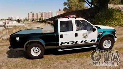 Ford F-250 Super Duty Police [ELS] para GTA 4 esquerda vista