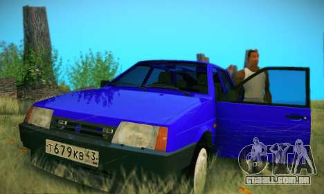 VAZ 21099 para vista lateral GTA San Andreas