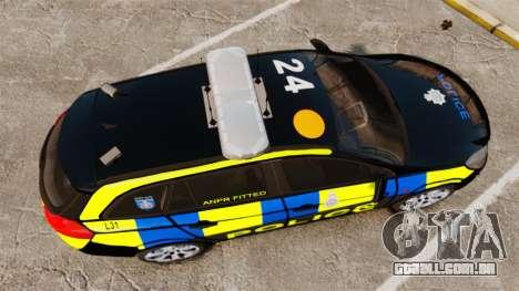 Vauxhall Insignia Sports Tourer Police [ELS] para GTA 4 vista direita
