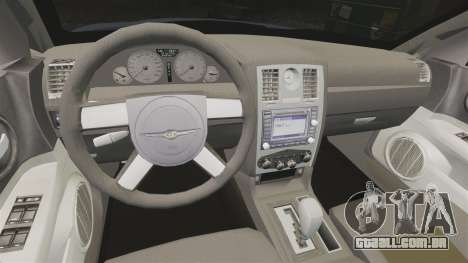 Chrysler 300C SRT8 para GTA 4 vista interior