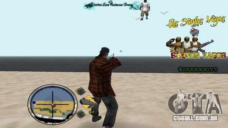 Hud By Fawkes para GTA San Andreas segunda tela