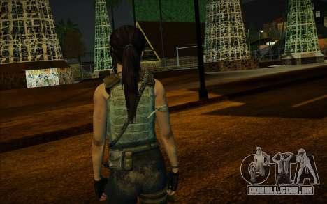 Tomb Raider Lara Croft Guerilla Outfit para GTA San Andreas terceira tela