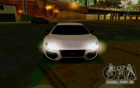 GTA V Obey 9F Version 2 FIXED para GTA San Andreas traseira esquerda vista