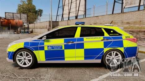 Hyundai i40 2013 Metropolitan Police [ELS] para GTA 4 esquerda vista