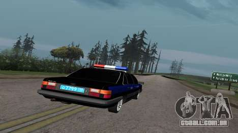 Audi 100 a Polícia ОБЭП para GTA San Andreas vista direita