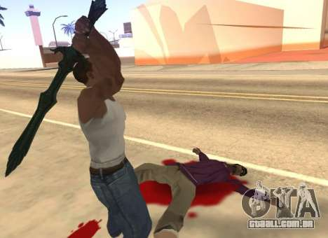 Vidro Espada de Skyrim para GTA San Andreas quinto tela