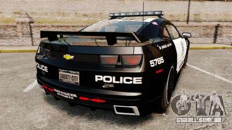 Chevrolet Camaro Police [ELS-EPM] para GTA 4 traseira esquerda vista