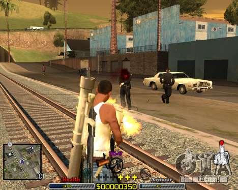 C-HUD Crime Ghetto para GTA San Andreas segunda tela