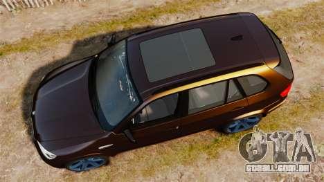 BMW X5M v2.0 para GTA 4 vista direita