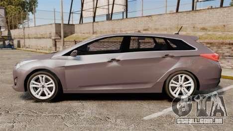Hyundai i40 2013 Unmarked Police [ELS] para GTA 4 esquerda vista