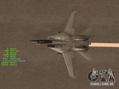 F-14 Tomcat HQ para GTA San Andreas vista inferior