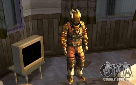 Isaac Clark in E.V.A Suit para GTA San Andreas segunda tela