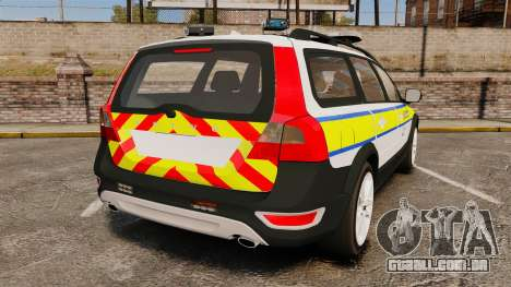 Volvo XC70 Emergency Response Unit [ELS] para GTA 4 traseira esquerda vista