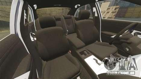 Toyota Camry para GTA 4 vista inferior