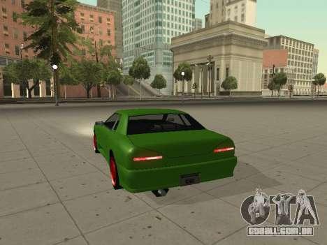 Elegy by X3noNon para GTA San Andreas traseira esquerda vista