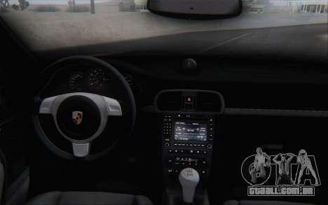 Porsche 911 Turbo para GTA San Andreas vista inferior
