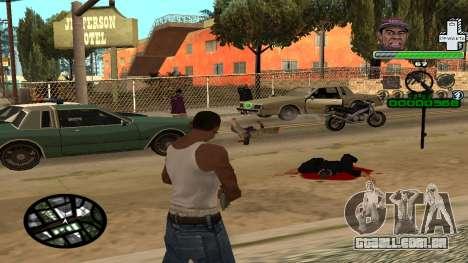 C-HUD by Tyler para GTA San Andreas terceira tela