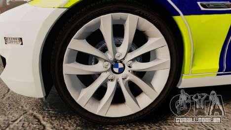 BMW 530d Touring Lancashire Police [ELS] para GTA 4 vista de volta
