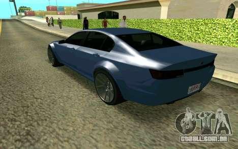 GTA V Fugitive para GTA San Andreas esquerda vista