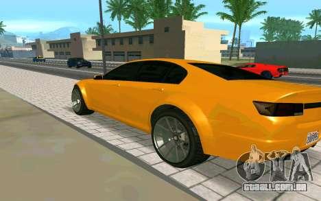 GTA V Fugitive Version 2 FIXED para GTA San Andreas esquerda vista