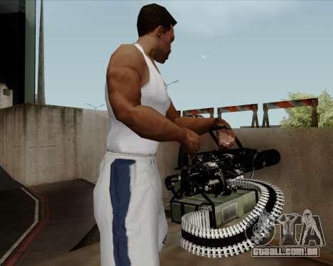 Renegades Minigun Black para GTA San Andreas por diante tela
