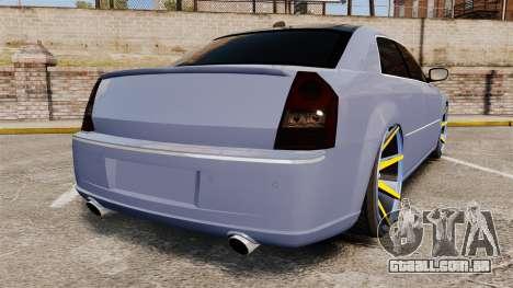Chrysler 300C SRT8 para GTA 4 traseira esquerda vista