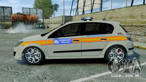 Vauxhall Astra Metropolitan Police [ELS] para GTA 4 esquerda vista