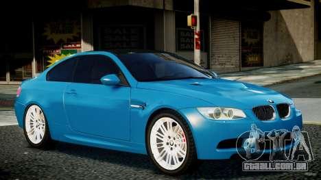 BMW M3 E92 para GTA 4 traseira esquerda vista