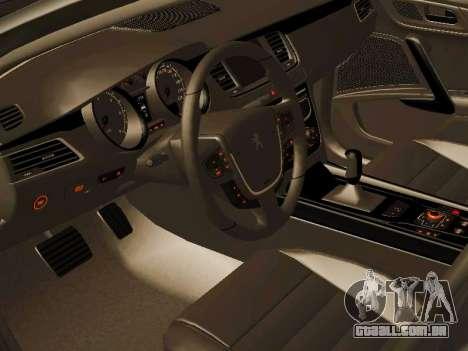 Peugeot 508 2011 v2 para GTA San Andreas vista traseira
