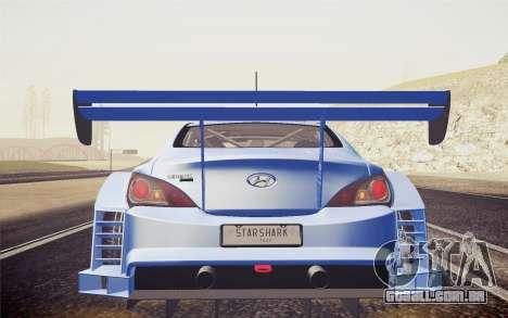 Hyundai Genesis Coupe 2010 Tuned para GTA San Andreas vista direita