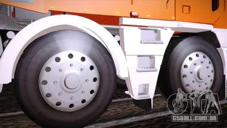Freightliner Argosy 8x4 para GTA San Andreas vista traseira