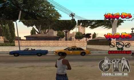 HUD Vagos para GTA San Andreas segunda tela