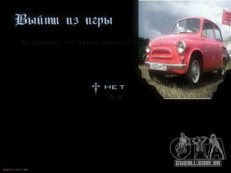 Menu Soviética carros para GTA San Andreas sétima tela