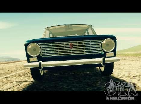 Fiat 124 Familiare para GTA San Andreas traseira esquerda vista