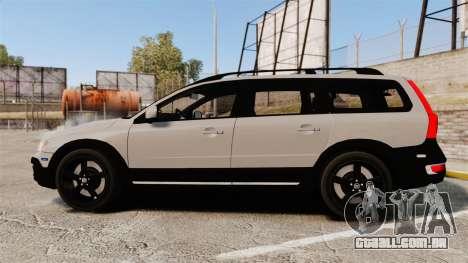 Volvo XC70 2014 Unmarked Police [ELS] para GTA 4 esquerda vista