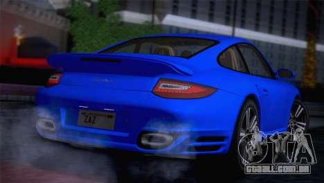 Porsche 911 Turbo Bi-Color para GTA San Andreas traseira esquerda vista