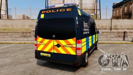 Mercedes-Benz Sprinter Police [ELS] para GTA 4 traseira esquerda vista